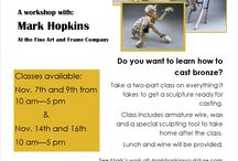 Artist Workshops / Meet the professionals, talk to the professionals and learn from the best!  We are taking registration for a wax sculpture class, with bronze artist Mark Hopkins, currently for November 9th, with waiting lists for November 7th, 14th and 16th. Please contact us for more details and to sign up! Seats are filling fast.  If you are an artist interested in teaching a class, please contact us at marketingfineart@gmail.com or via phone at (970)490.1001.