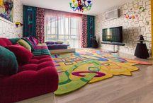 POP ART / Небанальные ковры в интерьерах дизайнера Екатерины Захаровой