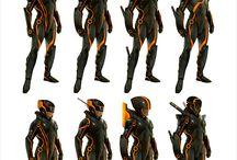 Futuristic battle clothes