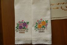 My work / Handmade embroidered kitchen towels