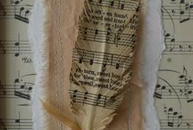 Sheet music feathers / Sheet music