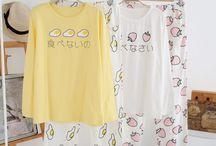 "pajamas / Use coupon code ""cutekawaii"" for 10% off at https://www.sanrense.com/"