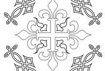 Middeleeuwse teken patronen