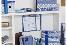 Ocean Blue Stationery / Our Ocean Blue stationery collection has a fresh and pretty colour palette, stunning copper details and intricate patterns that create a look of modern sophistication. You'll find everything from notebooks to storage boxes to cosmetic mirrors in our timeless design; the perfect way to give your stationery an elegant, summery feel for 2016.