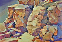 Rocks - painting