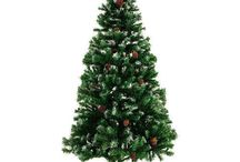 Artificial Green Christmas Tree Xmas Snow Decorations Small Home Furniture Stand