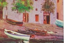 Cadaqués. Port Alguer. / Eliseo Meifrén Roig. Pinturas al óleo de Port Alguer, Cadaqués.