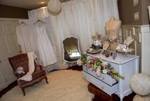 CBBC - Vintage furniture, flowers and milk glass