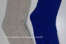meias em tricô