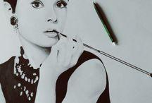 Portret rysunek / Rysunki postaci i portretów wykonane ołówkiem na zajęciach kursu rysunku ABSM