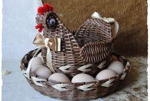 Пасха / Веночки, подносы, корзинки, окрашивание яиц
