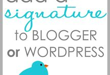 Blogging Basics / How To's and Helpful Hints for Starting a Blog through Wordpress