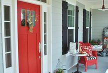 Door, window, porch