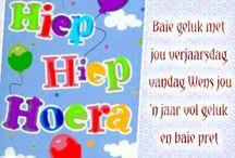 Afrikaanse verjaardag wense