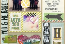 Project Life / Inspiration to create pocket page scrapbooking layouts!