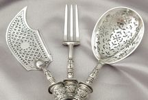 silver and tableware