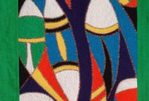 Artquilt masks, masques art quilt / Mon interprétation de masques africains
