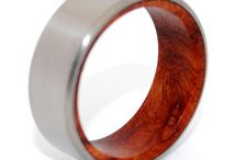 Wooden Wedding Rings  / Custom Titanium Rings by Minter & Richter --  All of our wood is stabilized under a patented high pressure treatment, so while it retains the the natural beauty of wood it becomes highly water-resistant and ultra-durable!