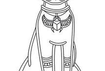 Starověký Egypt - malba, kresba