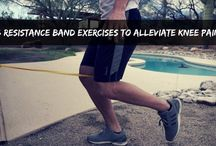Resistance Band Therapy / Sports therapy using resistance bands.