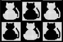 Pixel patterns / Cross stich, c2c crotchet patterns