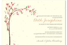 Unique Bat Mitzvah Invitations / Eco-Friendly Bar Mitzvah invitations and unique Bat Mitzvah invitations from ForeverFiances are the unique and earth conscious way to celebrate your sons and daughters memorable 13th birhday. Set the stage with the greenest invitation on earth: an invitation made with 100% recycled handmade paper, embedded with wildflower seeds.