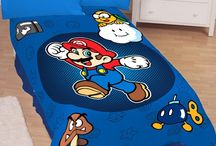 Super Mario Bros. Bedroom Ideas / Furniture, toys, paint colors, and more. Everything you would need to create the perfect Super Mario Bros. themed bedroom.