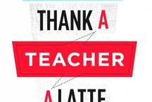 """Teacher Appreciation Week / Teacher Appreciation week runs from May 6-10 and in celebration, StudyBlue is launching its second annual teacher appreciation program, """"Thank a Teacher a Latte"""". Whether you're a student, former student, parent or teacher yourself, recognizing an educator who has made a difference in your life is as easy as the click of a mouse. http://thankateacher.studyblue.com"""