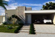 Fachadas casa térrea