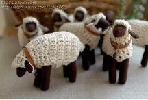 animaux tissu laine