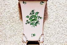 Herendi Nanking mintás körmös antik váza