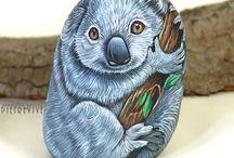 Koala bears painted rocks