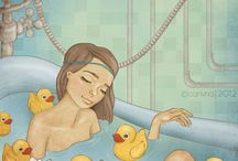 Bath time / bath, shower, relax, relaxing