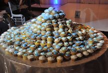 AWS Cupcake DIVE / Brides search for the hidden ring in a mound of cupcakes at the Ancaster Wedding Show