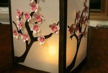 Cherry Blossoms stencils
