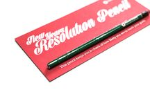 New Years Resolution Pencil / A pencil that tells you how likely you are to reach your goals.