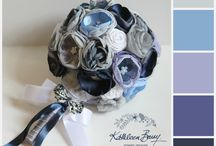Wedding accessories color palette ideas - Kathleen Barry / Wedding accessories designed by Kathleen Barry customized for Brides with specific color requirements. www.kathleenbarry.co.za