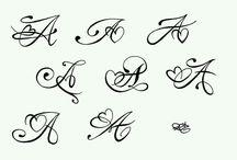 letter tattoos