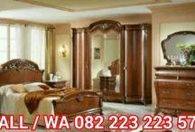Kamar Tidur Klasik / Jual Furniture Kamar Tidur Klasik Desain Terbaru Bahan Kayu Jati & Mahoni