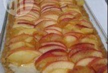 tortas de maçã com creme