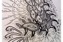Sketa - abstract / Colouring book abstracts or abstract works in progress