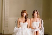 Bride/Bride/Bridegroom Beauty / lesbian weddings, gay weddings, bridegroom,