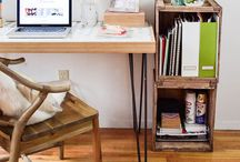 LIVING | Home Office & Workspace | Tiny Apartment Ideas / Find inspiration for your workspace in a tiny apartemnt