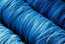 trådrulle blå