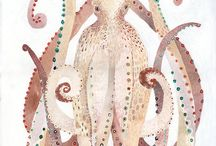 Cephalopods - Octopus, squid etc. / by Laura Ottina