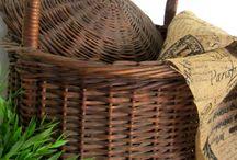 Wicker, hemp, jute, and baskets