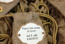 Hessian seed packets