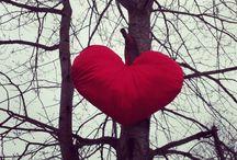 Heart in the forest / Heart, Love, Art installation, Loving nature. By Malin Sköld
