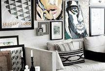 parede de quadros sala estar