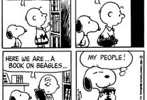 Snoopy and beagles in the funnies / Funny stories about Snoopy and other beagles.